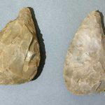 Bifaces, Silex, Paléolithique moyen, Chalon-sur-Saône, carrière d'argile en 1899. © musée Denon