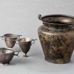 Service à vin, Alliage cuivreux, argent, Ier siècle av. J.-C., La Saône, provenances diverses. © musée Denon
