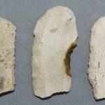 Grattoirs, Silex, Époque paléolithique (aurignacien), Saint Martin-sous-Montaigu (S.-et-L.). © musée Denon