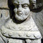 Stèle funéraire, Pierre, Epoque gallo-romaine, Chagny (S.-et-L.).