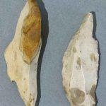 Burins, Silex, Paléolithique supérieur (aurignacien), Mellecey (S.-et-L.), hameau de Germolles, grotte de la Verpillère. © musée Denon