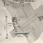 Plan du domaine gallo-romain de la Vigne de Saule à Saint Rémy, Site découvert en 1937, fouillé entre 1966 et 1970.