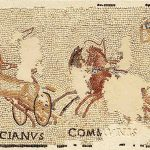 Mosaïque illustrant une course de chars, Pierre, Epoque gallo-romaine, Sennecey-le-Grand (S.-et-L.), hameau de Sens. © musée Denon