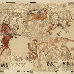 Mosaïque illustrant une course de chars, Pierre, Epoque gallo-romaine, Sennecey-le-Grand (S.-et-L.), hameau de Sens.