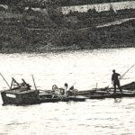 Dragueur à main en action, à Verjux, Début XXe siècle