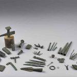 Dépôt de bronzier (outillage), Alliage cuivreux, Age du Bronze final (1000 av. J.-C.), dépôt, Génelard (S.-et-L.). © musée Denon