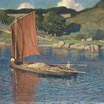 Jules-Raymond KOENIG, En rivière, à Pont-Aven , fin XIXe, huile sur toile, 87 x 127 cm. © musée Denon / Philip Bernard