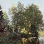 Alexandre RAPIN, Bords de l'étang à Mortefontaine (Oise), vers 1874, huile sur toile, 108 x 161 cm. © musée Denon / Philip Bernard
