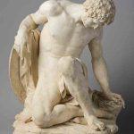 Pierre JULIEN, Gladiateur mourant, 1778, modèle en plâtre, H : 61,5 cm. © musée Denon / Philip Bernard