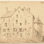 Jules CHEVRIER, Ruffey, 8 août 1878, crayon noir sur papier, 11,4 x 18,5 cm. © musée Denon
