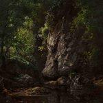Jean-Aimé GIRIER, dit SAINT-CYR, Roches sous bois, 1878, huile sur toile, 116 x 136 cm. © musée Denon / Philip Bernard