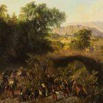 Henri-Pharamond BLANCHARD, Marche d'une division française sur Mexico. Arrivée à Plan del Rio, 1863, huile sur toile, 86 x 122 cm. © musée Denon / Philip Bernard