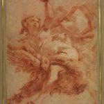 Gaetano GANDOLFI, L'Enlèvement de Ganymède, XVIIIe siècle, sanguine et rehauts de craie blanche sur papier vergé, 40 x 27,8 cm. © musée Niépce, Sylvain Charles