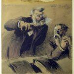 Noël DORVILLE, Camille en commission, début XXe siècle, plume et encre noire, aquarelle sur papier, 53,5 x 50 cm. © musée Denon