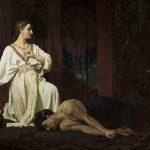 François GRELLET, dit frère Athanase-martyr, Jaël et Sisera, 1874, huile sur toile, 201 x 300 cm. © musée Denon