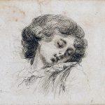 Dominique-Vivant DENON [1747-1825], Tête d'enfant qui dort, Fin du XVIIIe siècle, Eau forte, H. 8,8cm ; l.11,4cm. © musée Denon