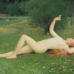 Désiré LAMY, dit FRANC-LAMY, Pâquerette, 1888, huile sur toile, 130 x 190 cm. © musée Denon / Philip Bernard