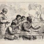 Madame MOLLIEN, d'après Le GUERCHIN [1591-1666], Quatre jeunes chanteurs regardés par un vieil homme, 1819, lithographie, H. 29,6cm ; l. 42cm. © musée Denon