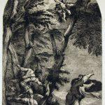 Dominique-Vivant DENON [1747-1825], d'après Le TITIEN [1489-1576], Le meurtre de Pierre de Vérone, Fin du XVIIIe siècle, eau forte, H. 51,8cm ; l. 32,7cm. © musée Denon