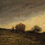 Antonin RICHARD, Soir d'orage, huile sur bois, 12 x 20 cm. © musée Denon / Philip Bernard