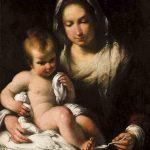 Bernardo STROZZI, La Vierge à la bouillie, XVIIe, huile sur toile, 93 x 71 cm. © musée Denon / Philip Bernard