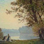 Jean LARONZE, Bords de la Loire, 1920, huile sur toile, 46 x 61 cm. © musée Denon