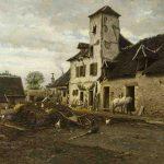 Antonin RICHARD, Une ferme à Chatenoy-le-Royal, huile sur bois, 53 x 65 cm. © musée Denon / Philip Bernard