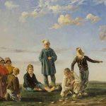 Etienne RAFFORT, Le Jeu de palet ou Palet bressan, 1834, huile sur toile, 41 x 65 cm. © musée Denon / Philip Bernard