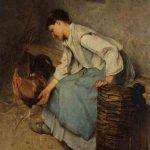 Philibert-Léon COUTURIER, Pierrette et Pierrot, 1886, huile sur toile, 90 x 64 cm. © musée Denon / Philip Bernard