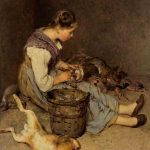 Philibert-Léon COUTURIER, La Pourvoyeuse, 1892, 83 x 63 cm. © musée Denon / Philip Bernard