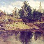 Adrien DAUZATS, Le Gué, ruisseau à Blidah, 1861, huile sur toile, 101 x 138 cm. © musée Denon / Philip Bernard