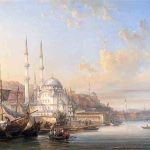 Etienne RAFFORT, La Corne d'Or d'Istanbul, 1855, huile sur toile, 141 x 193 cm. © musée Denon / Philip Bernard