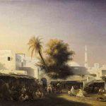 Etienne RAFFORT, Alger, Porte de Bab-Azoun, 1834, huile sur toile, 67 x 94 cm. © musée Denon / Philip Bernard