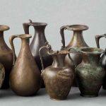 Oenochoés (service à vin), Alliage cuivreux, Epoque gallo-romaine, La Saône, provenances diverses. © musée Denon