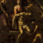 Anonyme, Le Christ mis au tombeau, huile sur toile, 99 x 63 cm,  fin XVIe. © musée Denon / Philip Bernard