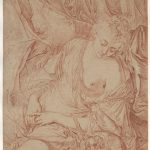 Pierre-Gustave FLODING ou Antoine-François HEMERY, La Fidélité surveillante, XVIIIe siècle, sanguine sur papier vergé, 27,2 x 20,6 cm. © musée Niépce, Sylvain Charles
