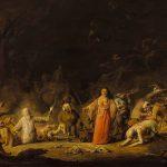 Cornelis Saftleven  (Gorkum, vers 1607 – Rotterdam, 1681)  Tableau : Scène de sorcellerie Peinture à l'huile sur bois Chalon-sur-Saône, musée Denon © musée Denon / Photographie : Philip Bernard