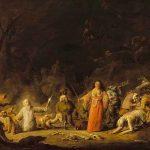 Cornelis SAFTLEVEN, Scène de sorcellerie, XVIIe, huile sur bois, 46 x 63 cm. © musée Denon / Philip Bernard