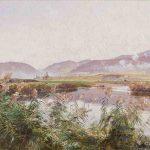 Emile ISENBART, Les Bords du Doubs à Morteau, fin XIXe, huile sur toile, 83 x 133 cm. © musée Denon / Philip Bernard