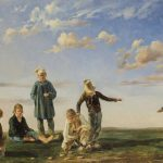 Étienne RAFFORT [1802-1880], Le jeu de palet ou Palet bressan, 1834, Huile sur toile, 41x65 cm