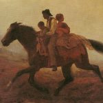 Eastman JOHNSON, A Ride for Liberty - The Fugitive Slaves, 1862, Huile sur toile.