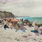 Lucien Laurent GSELL, [1860-1944] A Dieppe,  Huile sur toile
