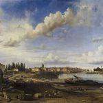 Étienne RAFFORT [1802-1880], Vue de Chalon-sur-Saône, 1837, Huile sur toile, 132x196 cm