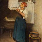 Philibert-Léon COUTURIER [1823-1901], La lessive, Huile sur toile